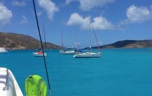 bateaux au mouillage aux iles vierges