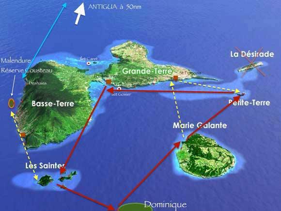 un circuit de croisière en Guadeloupe